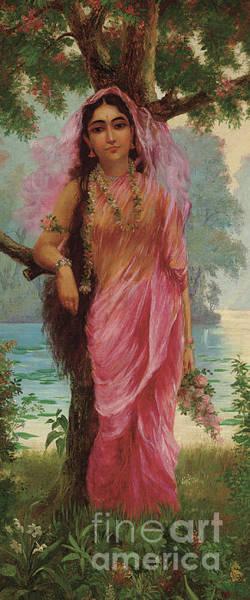 Seductive Painting - Vasantasena by Raja Ravi Varma