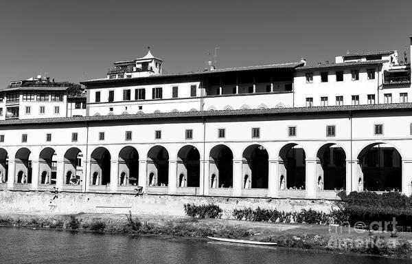 Photograph - Vasari Corridor Florence by John Rizzuto