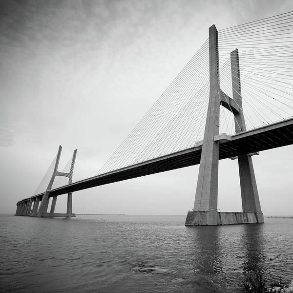 Vasco Da Gama Bridge Wall Art - Photograph - Vasco Da Gama Bridge by Itchysan