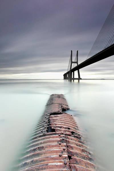Vasco Da Gama Bridge Wall Art - Photograph - Vasco Da Gama Bridge by Searching For The Light