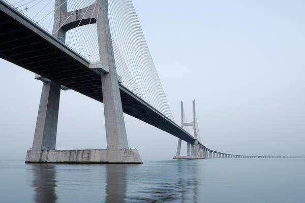 Vasco Da Gama Bridge Wall Art - Photograph - Vasco Da Gama Bridge, Tagus River by Martin Ruegner
