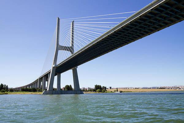 Vasco Da Gama Bridge Wall Art - Photograph - Vasco Da Gama Contemporary Cable-stayed by Alanphillips