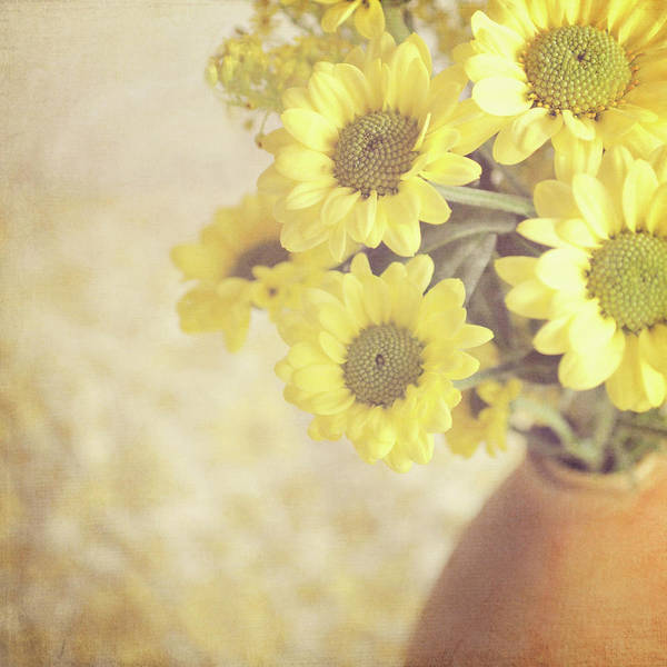 Randle Photograph - Vase Full Of Yellow Flowers by Photo - Lyn Randle