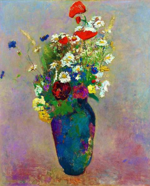 Wall Art - Painting - Vase Of Flowers - Digital Remastered Edition by Odilon Redon