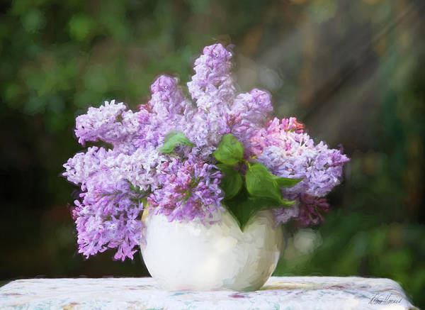 Photograph - Vase Of Lilacs by Diana Haronis
