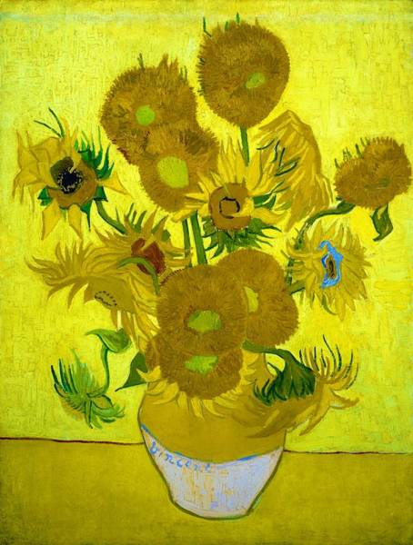 Wall Art - Painting - Vase With Fifteen Sunflowers - Digital Remastered Edition by Vincent van Gogh