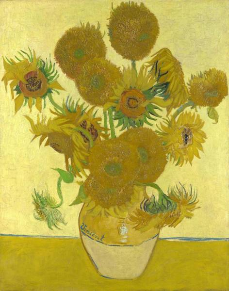 Wall Art - Painting - Vase With Fourteen Sunflowers - Digital Remastered Edition by Vincent van Gogh