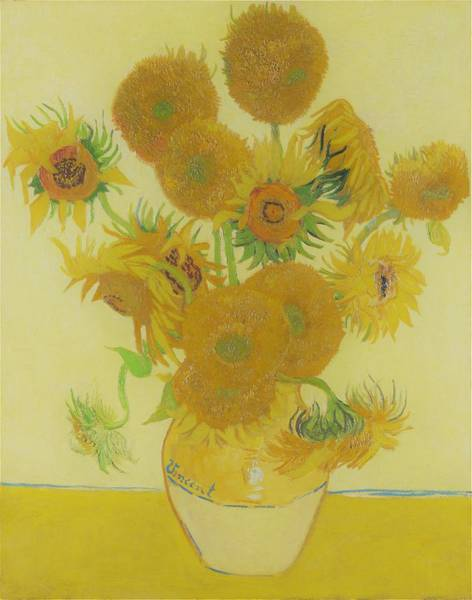 Wall Art - Painting - Vase With Fourteen Sunflowers - Original Vintage by Vincent van Gogh