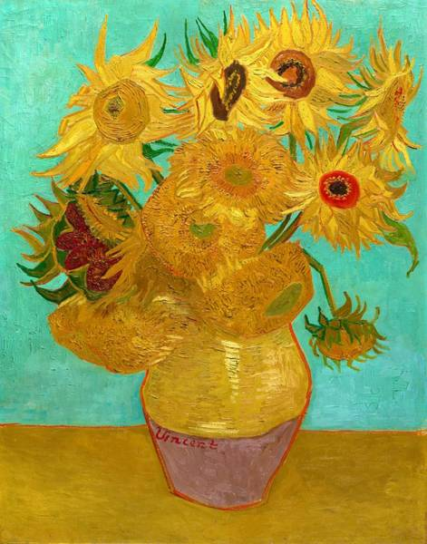 Golden Bloom Painting - Vase With Twelve Sunflowers - Digital Remastered Edition by Vincent van Gogh