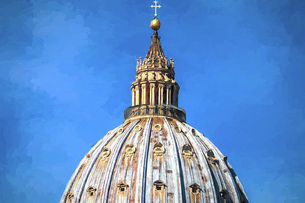 Wall Art - Photograph - Vatican Dome Inspired By Van Gogh by Tony Grider