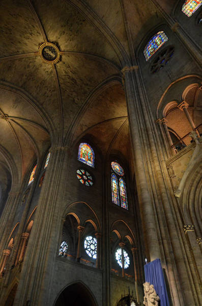 Photograph - Vaults And Stained Glass Windows Of Notre Dame De Paris Before The Fire Of 2019 by RicardMN Photography