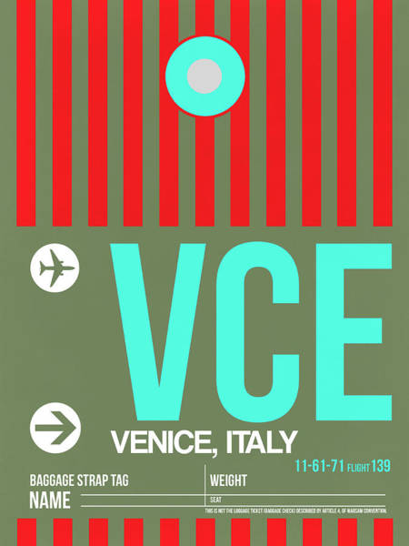 Wall Art - Digital Art - Vce Venice Luggage Tag II by Naxart Studio