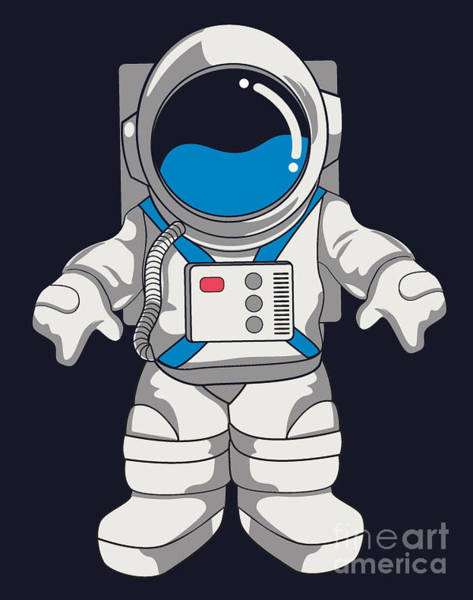 Astronaut Digital Art - Vector Astronaut Design by Braingraph