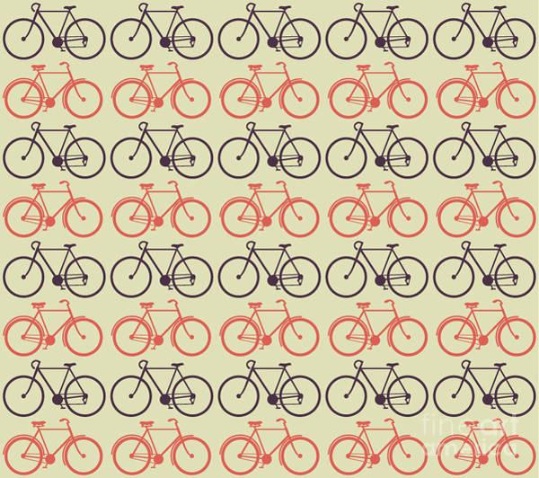 Wall Art - Digital Art - Vector Bicycle Pattern by Vectorbaba