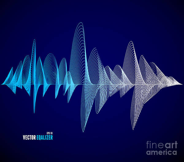 Wall Art - Digital Art - Vector Equalizer, Colorful Musical Bar by M.stasy