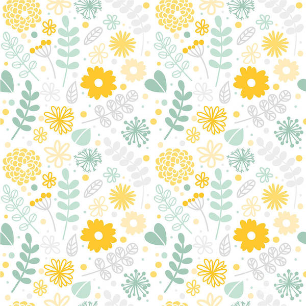 Lovely Wall Art - Digital Art - Vector Floral Pattern In Doodle Style by Art.tkach