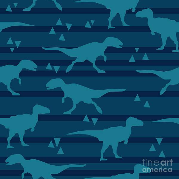 Art Form Digital Art - Vector, Illustration, Dinosaur by Alsu Gizzatullina