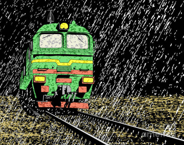 Wall Art - Digital Art - Vector Illustration Of A Russian Train by Robert Adrian Hillman