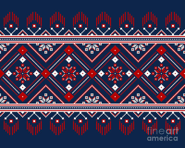 Wall Art - Digital Art - Vector Illustration Of Ukrainian Folk by Garrykillian