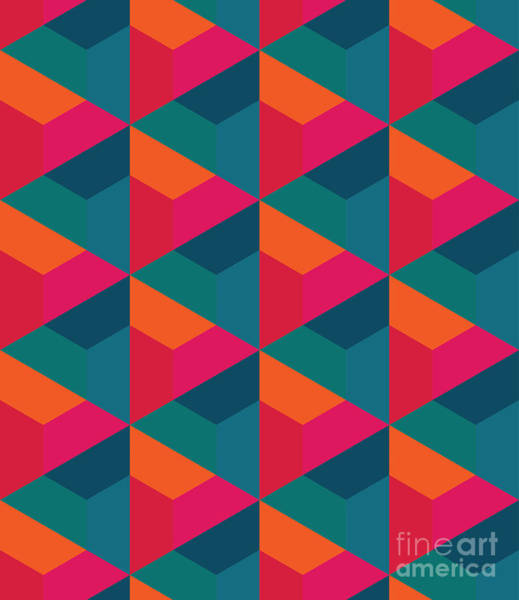Wall Art - Digital Art - Vector Modern Seamless Colorful by Sunspire