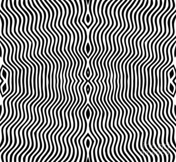 Wall Art - Digital Art - Vector - Optical Art by Clara