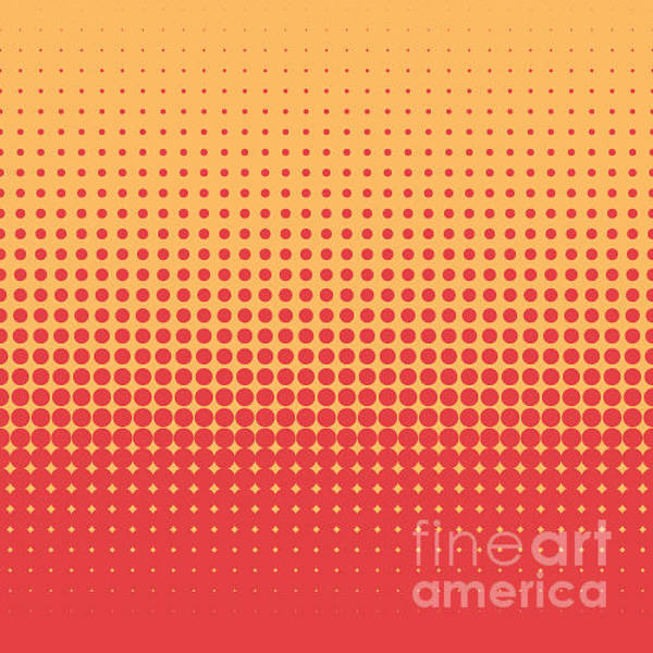 Wall Art - Digital Art - Vector Orange Halftone Dot Background by Mike Mcdonald