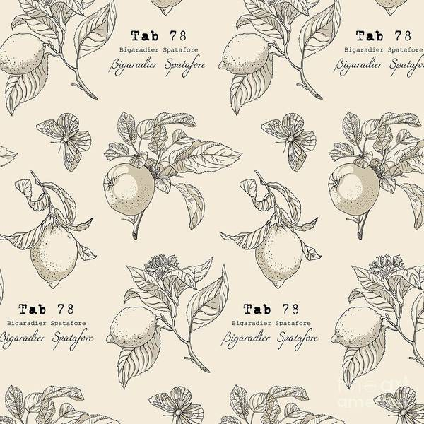 Freshness Wall Art - Digital Art - Vector Pattern In Vintage Style by Yana Fefelova