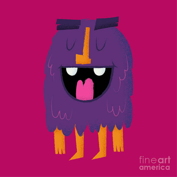 Wall Art - Digital Art - Vector Set Of Cartoon Cute Character by Quantium