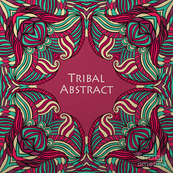 Islam Wall Art - Digital Art - Vector Tribal Abstract Background by Kakapo Studio