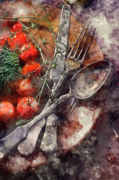 Wooden Spoon Digital Art - Vegetable In Wooden Plate by Tim Vogel