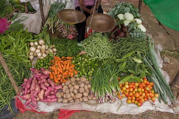 Wall Art - Photograph - Vegetable Market, Sri Lanka by David Hosking