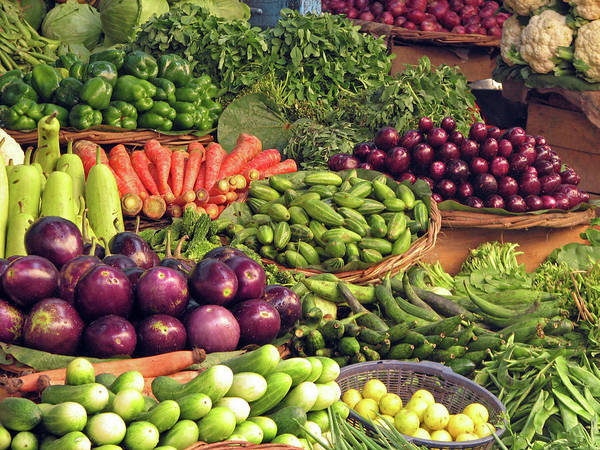 Retail Photograph - Vegetables For Sale In India by Mckay Savage