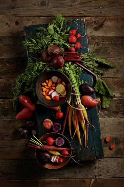 Wood Photograph - Vegetables by Lew Robertson