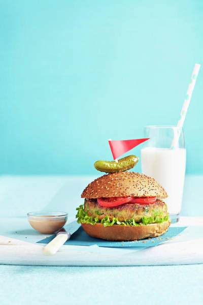 Drinking Glass Photograph - Vegetarian Burger by Jodi Pudge