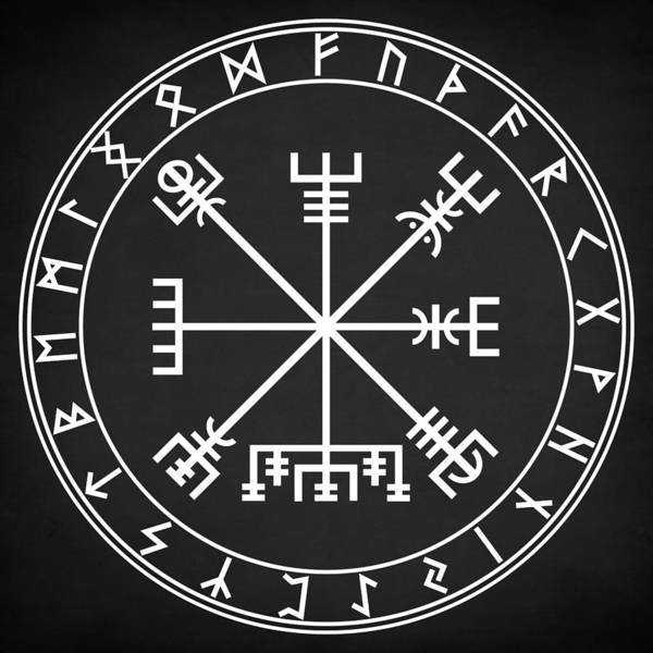 Wall Art - Digital Art - Vegvisir  by Zapista Zapista