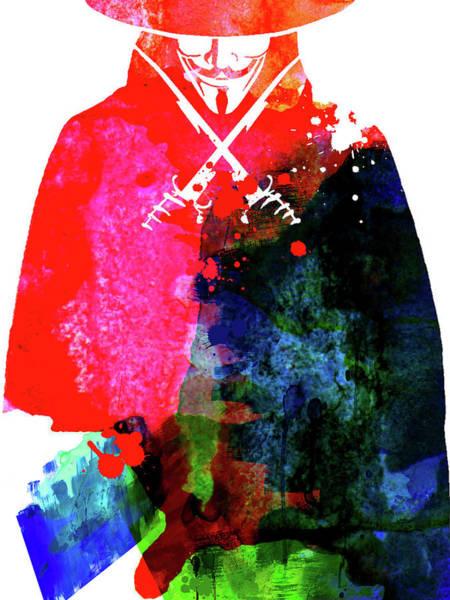 Los Angeles Mixed Media - Vendetta Watercolor by Naxart Studio