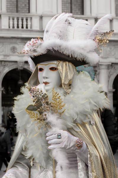 Photograph - Venetian Mask 2019 001 by Wolfgang Stocker