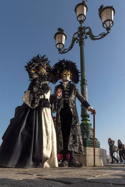 Photograph - Venetian Mask 2019 002 by Wolfgang Stocker