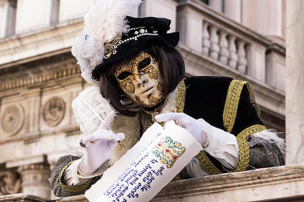 Photograph - Venetian Mask 2019 003 by Wolfgang Stocker