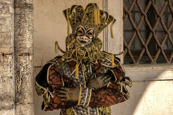 Photograph - Venetian Mask 2019 004 by Wolfgang Stocker