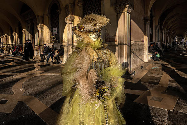 Photograph - Venetian Mask 2019 005 by Wolfgang Stocker