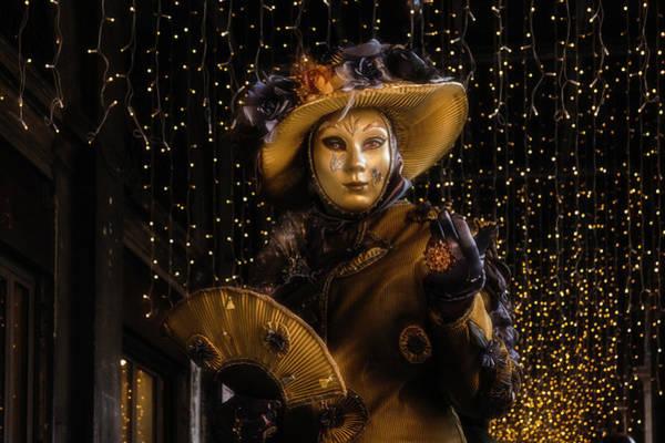 Photograph - Venetian Mask 2019 006 by Wolfgang Stocker