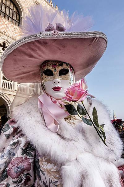 Photograph - Venetian Mask 2019 007 by Wolfgang Stocker