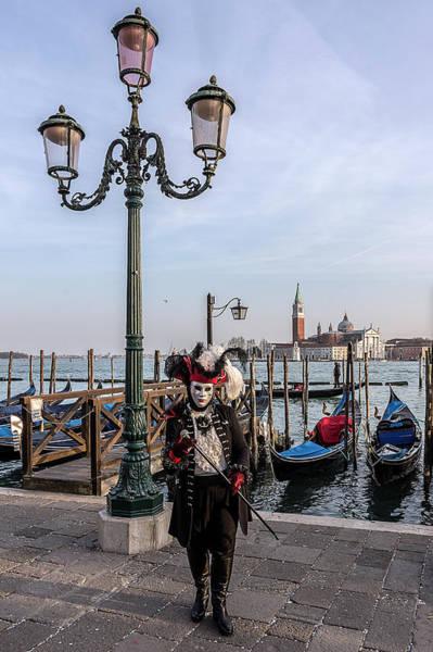 Photograph - Venetian Mask 2019 008 by Wolfgang Stocker