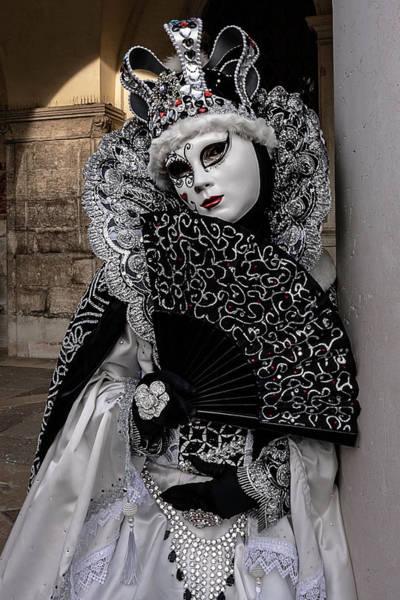 Photograph - Venetian Mask 2019 010 by Wolfgang Stocker