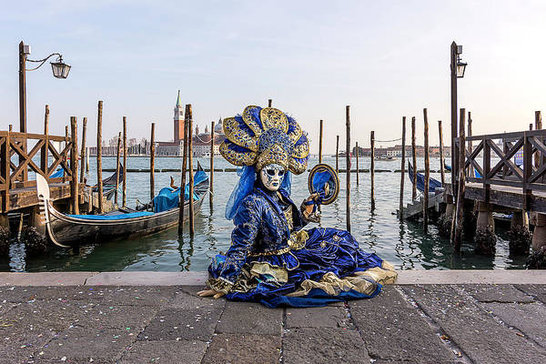 Photograph - Venetian Mask 2019 011 by Wolfgang Stocker