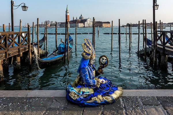 Photograph - Venetian Mask 2019 012 by Wolfgang Stocker