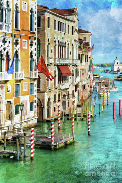 Wall Art - Painting - Venetian Palaces by Delphimages Photo Creations