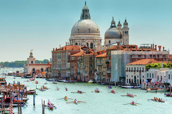 Gondola Photograph - Venetian Regatta by Rory Mcdonald