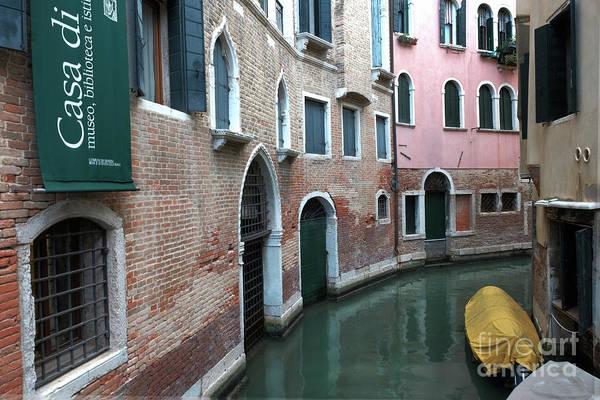 Venetian Streets -canals. Carlo Galdoni Museum Art Print